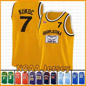 Toni 7 Kukoc Kawhi Jugoplastika Split Pop Moive Ncaa Leonard Stephen 30 Curry Dwyane 3 Wade كرة السلة جيرسي ليبرون 23 جيمس Kawhi Leonard