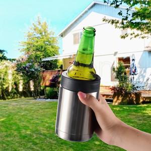 12 onces Tasses Tumbler Tasses isolé en acier inoxydable voiture bière tasse chopes à bière Cola fond plat Timbale Drinkware TRANSPORT MARITIME RRA3647