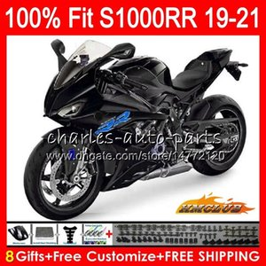 100% Fit Injection black glossy mold For BMW S-1000RR Body S1000 RR S 1000RR 2019 2020 2021 88HC.50 S 1000 RR Bodywork S1000-RR S1000RR 19 20 21 OEM Fairings