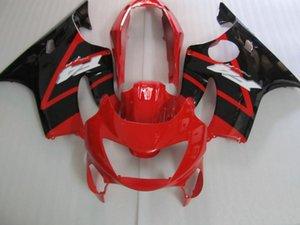 Injection kit carénages + cadeaux pour HONDA CBR600 F4 1999 2000 CBR600 99 00 CBR600 F4 99-00 couvercle du corps + pare-brise #red NOIR # A5WE2