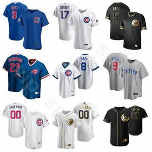 Yeni 2020 Beyzbol 17 Kris Bryant Jersey 44 Anthony Rizzo 12 Kyle Schwarber 22 Jason Heyward Javier Baez Ian Miller Erkek Kadın Gençlik