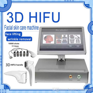 Beauty salon facial and body lifting 10000 shots hifu 3d hifu with 8 cartridges for skin care wrinkle removal