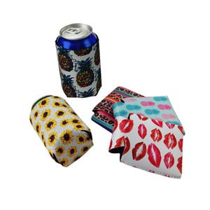 Neoprene Beverage Refrigerador Colaborável Slim Can Beer Isoladores Premium Cola Soda Garrafa Koozies Cactus Leopard Can Sleeve DWA2432