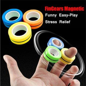 FinGears anelli magnetici Fidget Finger Stress Relief anello per l'autismo ADHD ansia di soccorso Bambini fuoco decompressione Bracciale Giocattoli BWB1138