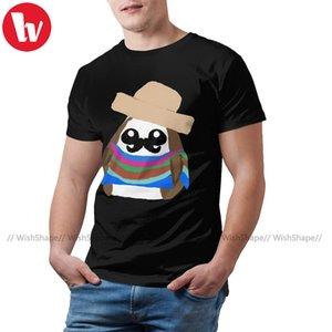 Porg camiseta Solo mexicana Porg T-shirt de manga curta algodão 100 camiseta Plus Size Imprimir verão camiseta bonito