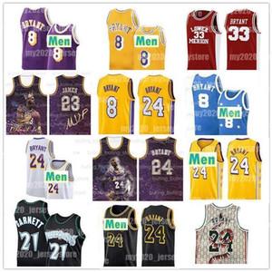 24 8 33 NCAA Bryant Джерси Нижняя Мерион Миннесота Кевин Гарнетт 21 Timberwolves Карл-Anthony 32 городов College Basketball трикотажных изделий