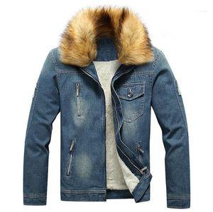 Mode Teenager Wintermäntel 20ss Herren Designer Jean-Jacken beiläufiges Fleece Dick Jeansjacken Oberbekleidung Neu