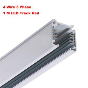 Led Track Light Rail For Cob Led Track Light 3 Phase 3 Circuit 4 Wires Aluminium Track Light System Dhl Free Ship