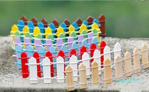Mini Zaun Kleiner Barrier Holz Harz Miniatur-Fee-Garten-Dekorationen Miniatur-Zaun für Gärten Tiny Barrieren