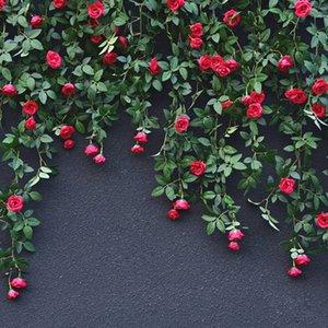 Yeni Yapay Çiçekler Vine Gül Sahte Çiçek Rattan Dize Ev Düğün Bahçe Dekor Pyku # Asma