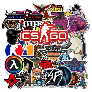 50Pcs / Lot CS GO Pousse jeu autocollants Planche à roulettes pour ordinateur portable guitare Luggage Drôle Cool Graffiti Rétro autocollant