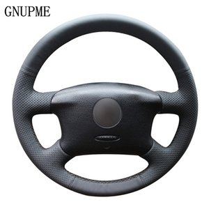 DIY Hand-Stitched Black Artificial Leather Car Steering Wheel Cover for Volkswagen VW Passat B5 1996-2005 Golf 4 1998-2004 car accessories