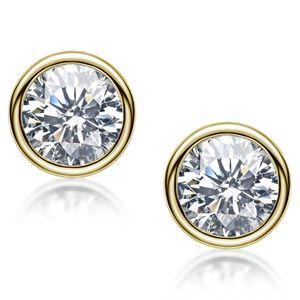 Sterling Silver S925 1 CT   Pair Moissanite Diamond Earring Wedding Engagement Earrings Brilliant Cut D VVS1 18K White Gold Plated Hip Hop