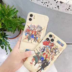 Anime One Piece Mat Case Arka Anti-şok Tam Koruyucu Comics Telefon Shell iPhone 11 Pro Max XR XS 7 8 Artı SE2020 için