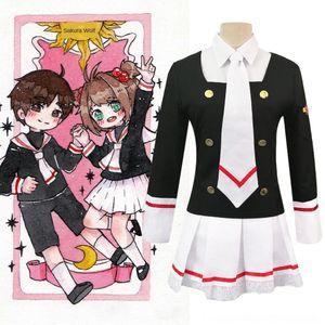 6haVH l2sqT forması Sihirli Kart giyim kadın kadın sihirli kart Sakura kız Sakura Zhishi okul forması cosply coswear jk sürekli değişen