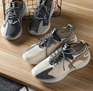 la capacidad de recuperación única cómoda vuelo pies levantando el pie de fondos volar informal resiliencia Q0217-071403 única cómodas zapatillas deportivas para hombre tejidas