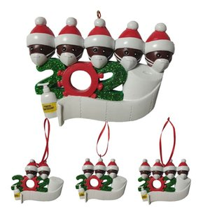 Семья С Рождеством 2020 Новый Рождество кулон маска для лица снеговика Ношение маски детей мужчин женщин Новогоднее украшение Survivor подарка