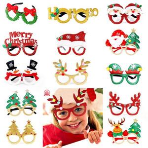 Adultos criativo crianças do Natal de Santa Festa Festival Ornamentos Decor Para Headwear Óculos brilhante do partido LED favores Decoração dos presentes de Natal