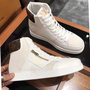 Hohe Version, die Auflistung neuer Mens-Breathable beiläufige Schuh-Mode-Männer Schuhe, Persönlichkeit Reißverschluss Dekoration Mens hohe beiläufige Sportschuhe 0005