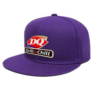 Dairy Queen Grand Opening Unisex Flat Brim Baseball Cap Sports Fashion Trucker Hats Animation logo sign Meet Me Logo PNG Transparent Led