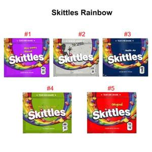 Le plus récent Skittles arc-en-Gummy Sac Medicated Jaune Sour Seattle Oricina sauvage Berry Zombie Tropical Zipper Sacs sec aux herbes fleurs