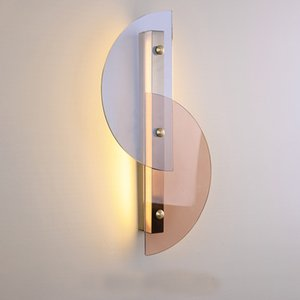 Nordic Stained Glass Wall Lamp Modern Minimalist Soft Decoration Living room Bedroom Aisle LED Wall Lamp