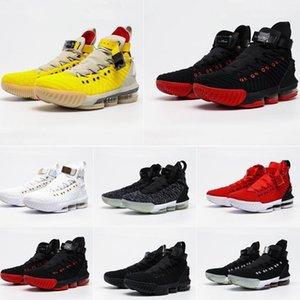 Rápido entregues sapatos amortecido choque Shoes SperStar Basquetebol Battleknit LeBrons XVI Designers sapatilhas externas