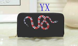 animales de la cartera del monedero solo tirón de las mujeres a estrenar 6 impresión en color de alta calidad de diseño de lujo señora de la serpiente cartera