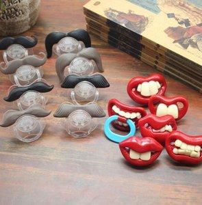 Komik Bebek emziği Sevimli Bıyık emziği İçin Bebekler ve Toddlers konfor oyuncaklar Memeler emziği 14 stilleri KKA8014