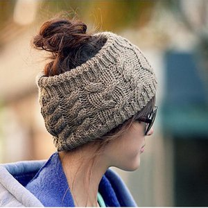 Cap Ski Lady New Fashion Girl Inverno Cabo Knitting Headbands Caps Women Ladies malha Esvaziar Crânio Beanie Hat Quente