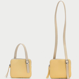 Super Hot Two-tone Shoulder Bag for Women Double-sided Lover Apricot with yellow Handbag Fashion Small Flap Bag Contrast Color Messenger Bag