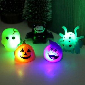 LED Cadılar Bayramı Flaş Kabak Bat İskelet Glow Yüzük Süslemeleri Aksesuarlar Floresan Halkası Parlak Oyuncak Çocuk Çocuk Parti Hediye