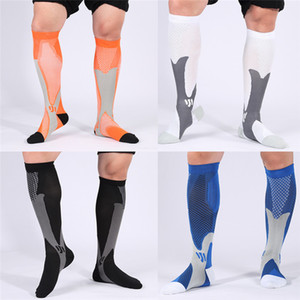 150 Pairs 8 Colors Wholesale Men's Fashion Sport Compression Socks for Athletic Running Cycling Football Training