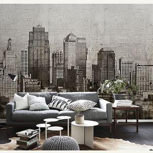 Vintage Bina Siyah ve Beyaz Şehir Duvar Duvar Resmi Resimleri Wallpaper Arkaplan Büyük Papel Duvar 3d Duvar Kağıdı 3d