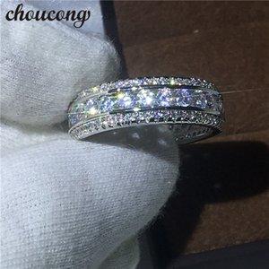 Choucong полный круглый подарок CZ ювелирные изделия Love Band заполненные обручальные кольца диамонические женщины набор для свадебных золотых мужчин белый GESSL