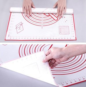 2 Non-slip Platinum Silicone Pastry Mat with Measurements Silicone Baking Mat Counter Dough Rolling Mat Oven Liner Fondant Pie Crust Pad 668