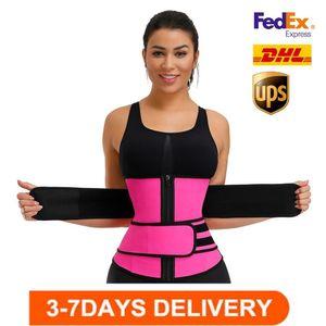 US Stock Plus Size Waist Trainer Belt Women High Waist Sweat Shaper Thigh Trimmers Adjustable Sauna Belt S-6XL