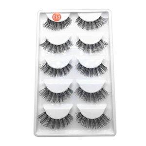 5Pair starke gefälschte Wimpern Natürliche falsche Wimpern Volume Lashes Artificial Extensions Falsche Wimpern Makeup 1F25