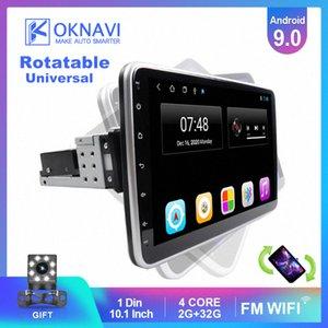 OKNAVI 안드로이드 9.0 IPS 터치 스크린 회전 가능한 1 딘를 들어 유니버설 자동차 라디오 스테레오 오디오 비디오 DVD 멀티미디어 플레이어 차량용 DVD 최저 모비 hLbr 번호