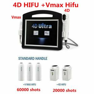 Nueva 2IN1 de 3D 4D + HIFU HIFU Vmax 12 Líneas de alta intensidad HIFU Ultrasonido de la piel máquina de eliminación de SMAS Cara corporal adelgazante Arrugas
