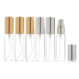 Mini feinen Nebel Klar 10ml 1 / 3OZ Atomizer Glasflasche Spray nachfüllbaren Duft Parfüm Leer Scent Bottle W / Aluminium-Sprayer LX2977