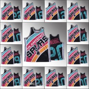 San AntonioEspuelasHombres Tim Duncan Dennis Rodman LaMarcus Aldridge Patty Mills Rudy Gay cara grande HWCNBA Jersey personalizado Negro