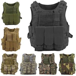 Chaleco táctico de combate Asalto portador de la placa Molle chaleco de caza al aire libre Paintball Ropa protectora Body Armor