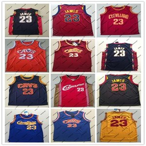 HOMENS CavaliersJerseys cidade Cleveland 23 James High School de LeBron jersey College Basketball