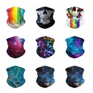 Masques 3D Starry Masques ciel Foulards d'insectes Prévention Handwarp Crâne multi-fonctionnelle cyclisme Bandanas unisexe Crâne Gaiter écharpe LSK774
