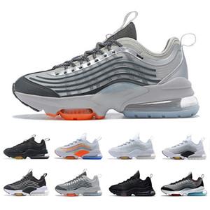 Cojín apuesto ZM950 zapatos corrientes del mens 950s Triple Negro blanco de la plata del arco iris de neón mujeres hombres entrenadores deportivos zapatillas de deporte Zapatos