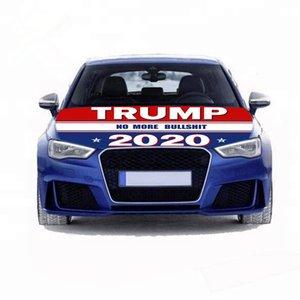 트럼프 후드 깃발 선거 자동차 Enginee 커버 플래그 세척 및 건조기 안전 간편한 설치 및 제거 캠페인 배너 DHC1216