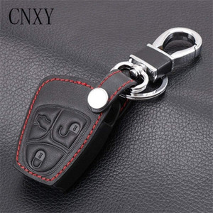 Key Bag Case Cover Protective Holder Keychain Accessories for Mercedes Benz A C E S ML CLK SLK CLS Remote Leather Fusion Escort 118