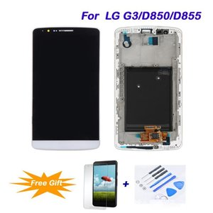 Para LG G3 / D850 / D855 Replacement LCD melhor qualidade LCD Touch Screen digitalizador Assembléia LCD tela de toque Completa Ferramentas de reparo