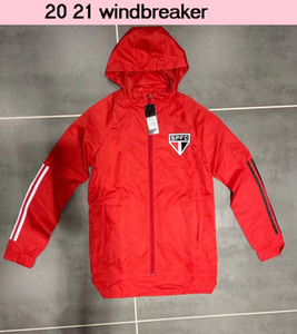 Sao Paulo flamengo 2021 con cappuccio Giacca a vento giacche 2020 2021 Flamengo Felpe con cappuccio Sport giacche cappotto invernale cerniera con cappuccio Giacca